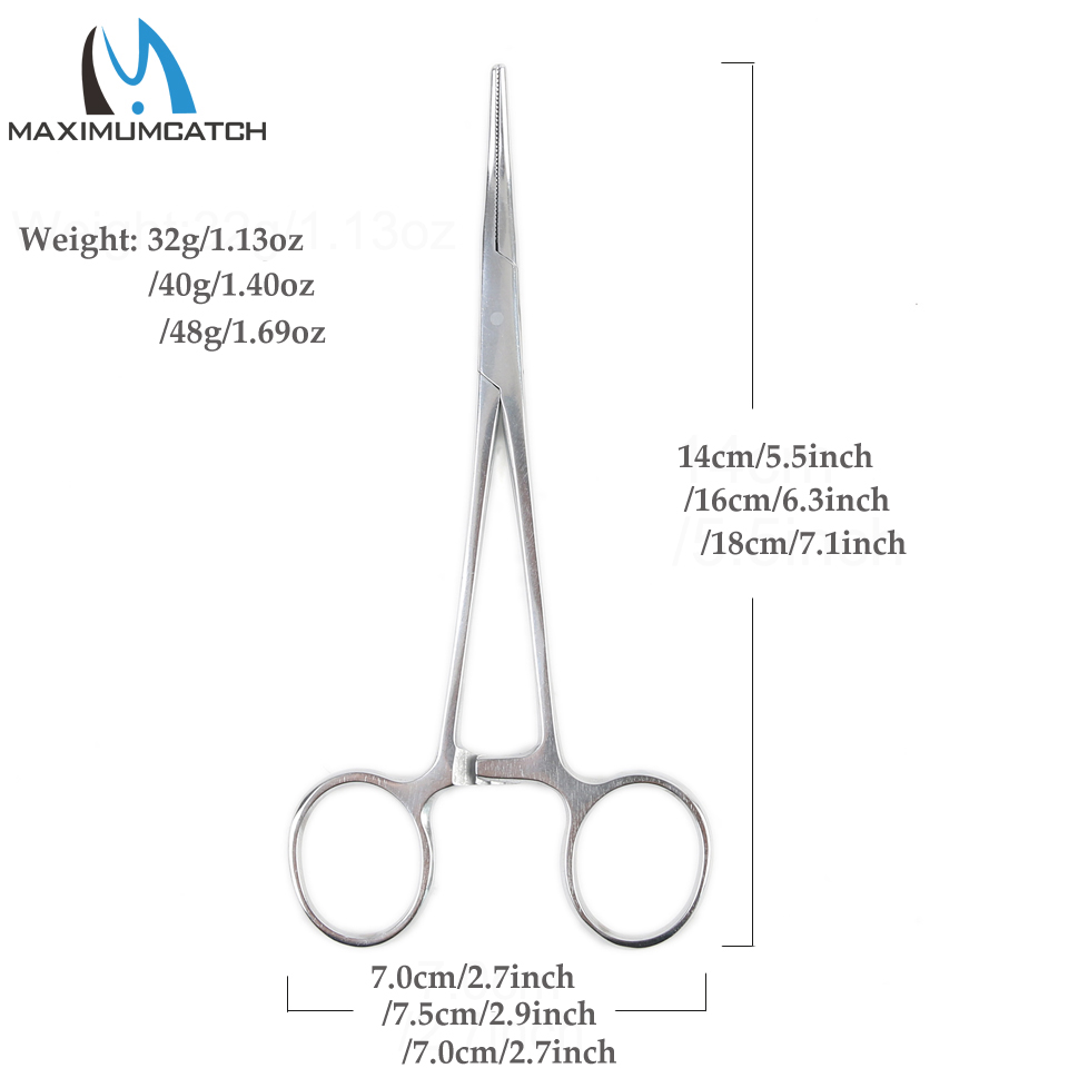 Maximumcatch DE016 12cm/14cm/16cm Fly Fishing Forcep Fishing Accessory Curved Hemostats