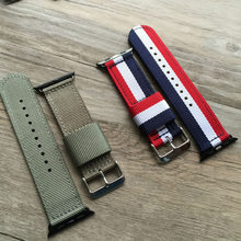 Color Woven nylon strap watchband for apple 38mm 42mm