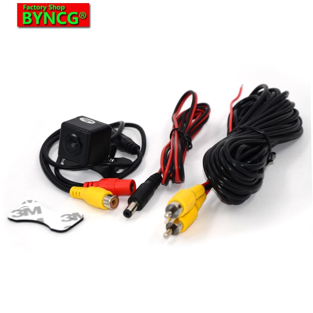 BYNCG WG Rear view camera CCD Night color sistem mobil membalikkan untuk kamera universal Reverse kamera belakang Angle disesuaikan