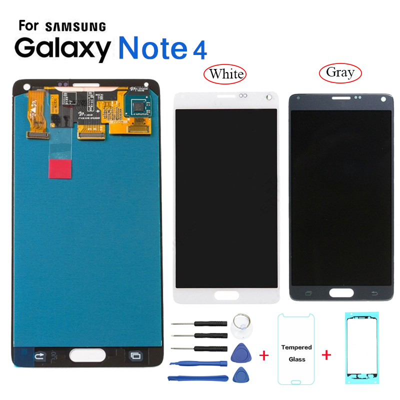 AMOLED For Samsung Galaxy Note 4 N910 N9100 Display LCD Screen replacement for Samsung N910W8 N910U N910T lcd display module