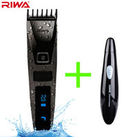 Riwa K3 Professional Hair Clipper One Build In Comb Rechargeable Waterproof Men S Hair Trimmer Machine