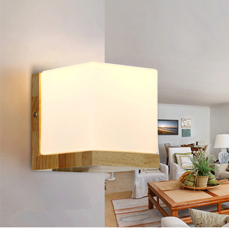 Modern wood wall lamps White glass lamp shade Dining-room sitting room corridor LED Indoor lighting light fixture машина volvo xc60 1 14 р у rastar в ассортименте