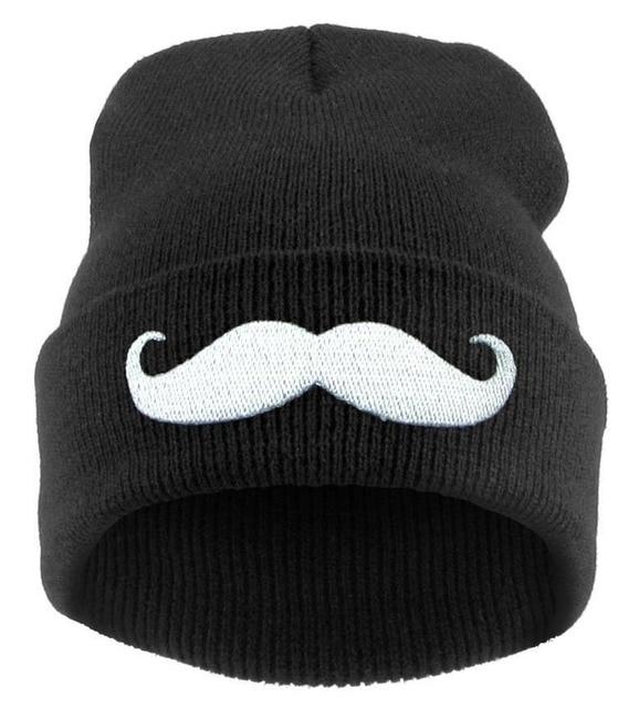 Voronwinter sombrero bigote hombres mujeres acrílico gorros de punto gorros  hip-hop para las d5e10424178