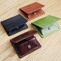 LAN bolsas de monedas de cuero de los hombres monedero mini monedero del cambio de cuero unisex monederos titulares