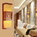 Chinese classic antique wall light bedroom foyer sconce lamp aisle corridor imitation parchment