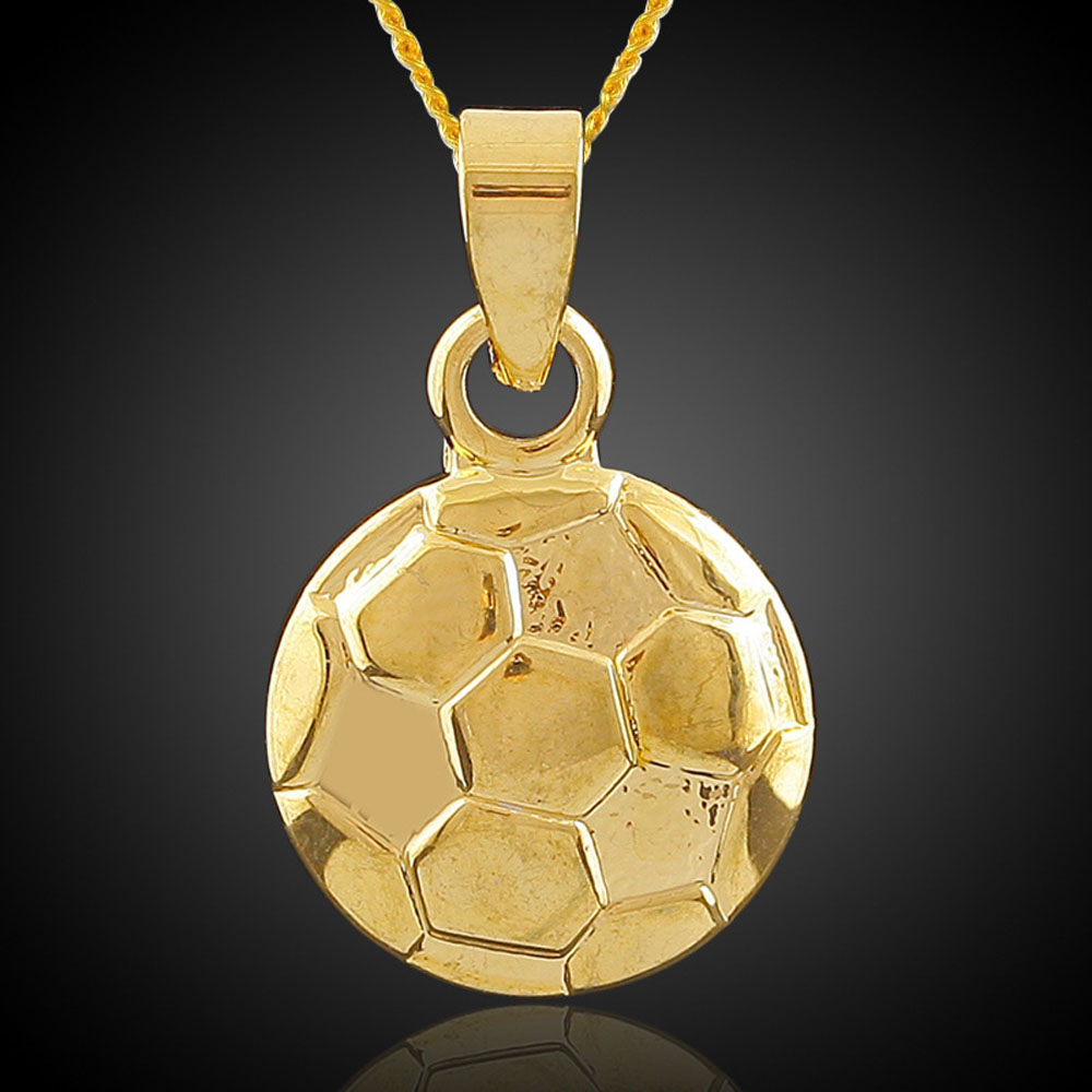 Unisex fashion jewelry new golden hip hop jewelry football soccer unisex fashion jewelry new golden hip hop jewelry football soccer ball pendant necklace sports necklace fashion free shipping in pendant necklaces from mozeypictures Image collections