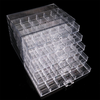 New 120 Grids Acrylic Makeup Organizer Storage Box Cosmetic Box Lipstick Jewelry Box Case Holder Display Stand make up organizer