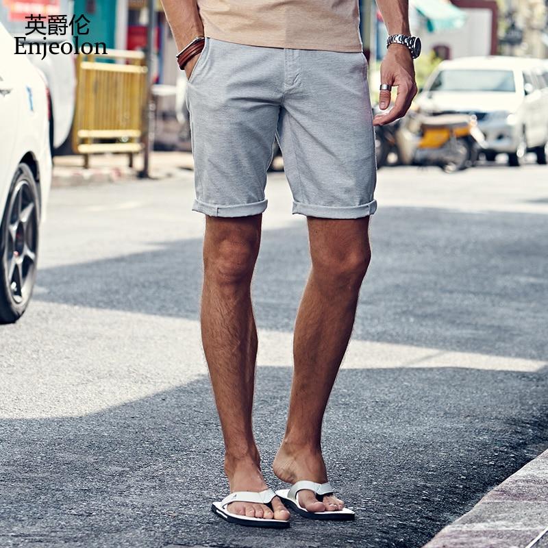엔젤 론 2018 여름 캐주얼 반바지 남자 심플 솔리드 - 남성 의류