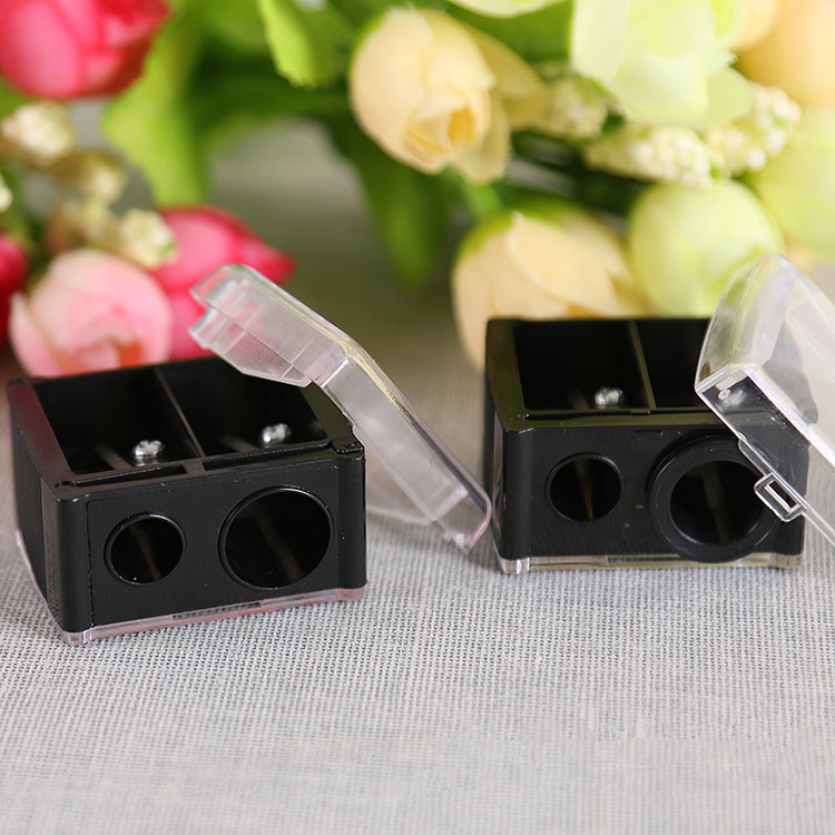 Double Holes Cosmetic Sharpener Useful Pencil Sharpener For Cosmetic Brush/Eyeliner Pencil/Makeup Pencil cosmetic makeup dual head eyeliner pencil white black