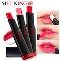 Meiking nueva barra de labios mate barras de labios maquillaje marca belleza rojo impermeable batom lipstick cosméticos de color rojo acabado de larga duración