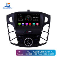 JDASTON Android 9.1 Car DVD Player For Ford Focus 2011 2012 2013 2014 2015 WIFI GPS Navigation 1 Din Car Radio Stereo Multimedia