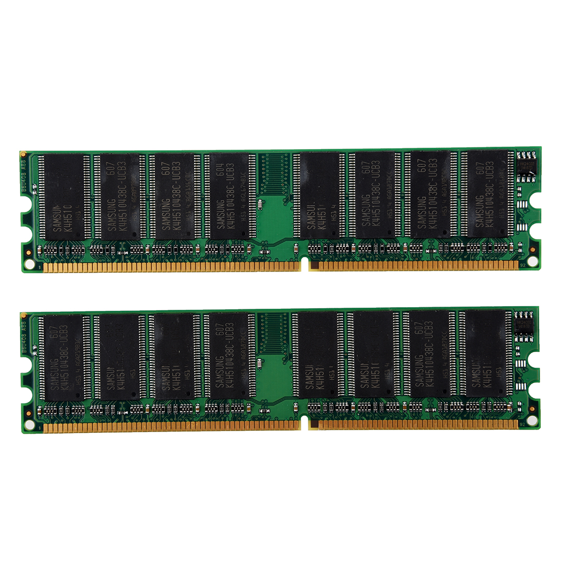 CAA-2GB(2x1GB) DDR 400 MHz PC3200 PC3200U Non-ECC Desktop PC DIMM Memory RAM 184-pin
