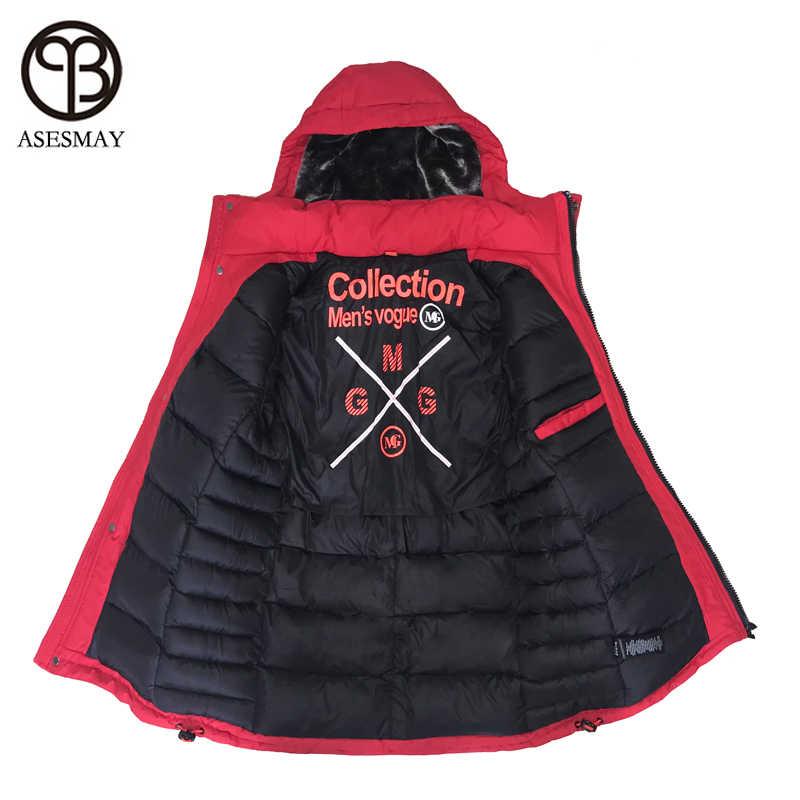 d89742ef040a Asesmay 2018 брендовая одежда мужская стеганая парка хлопковое пальто зимняя  куртка мужская модная зимняя куртка утепленные