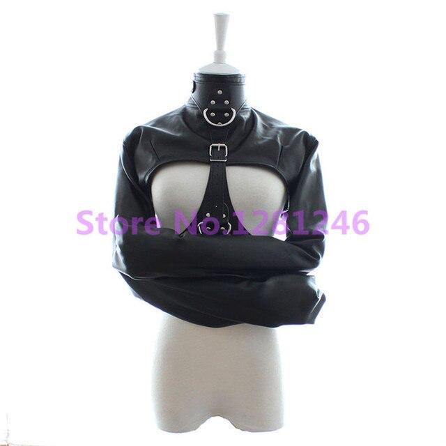 Фетиш женский открыт бюст смирительная рубашка, Женский кабала удерживающие ручки выявить груди костюм, Секс игрушки для женщин
