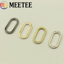 10Pcs 25mm Oval Ring Clip Buckels Bag Garment Belt Strap Dog Chain Metal Buckle Snap Clasp DIY Sewing Accessories