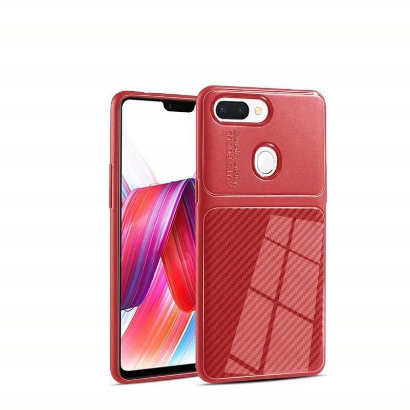 Auto Focus Carbon Fiber Skin Soft Silicone TPU Cover Case For OPPO F7 Youth F5 A3S F9 A7 A7X Ultra Thin Slim Phone Funda Cases