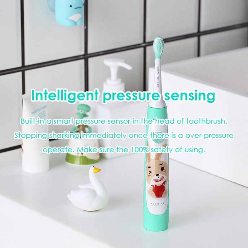 Image 3 - SOOCAS C1 Children Electric Toothbrush for Xiaomi Mijia Sonic Brush Teeth Child Kid Automatic Toothbrush Wireless Charging IPX7-in Electric Toothbrushes from Home Appliances