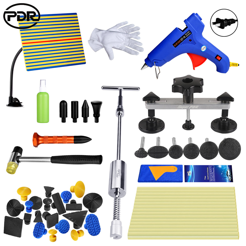 PDR Tools For Car Body Repair Kit Slide hammer yellow line Reflector Removal Dent Lifter Tool Set Suction Cup For Car dents pdr tools paintless dent removal car repair kit auto repair tool set slide hammer dent lifter suction cups for dents