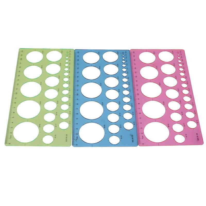 1 шт., пластиковая прямоугольная линейка с круглым отверстием, линейка, линейка, ширина 20 см, 10,5 см, для студентов, школьные принадлежности