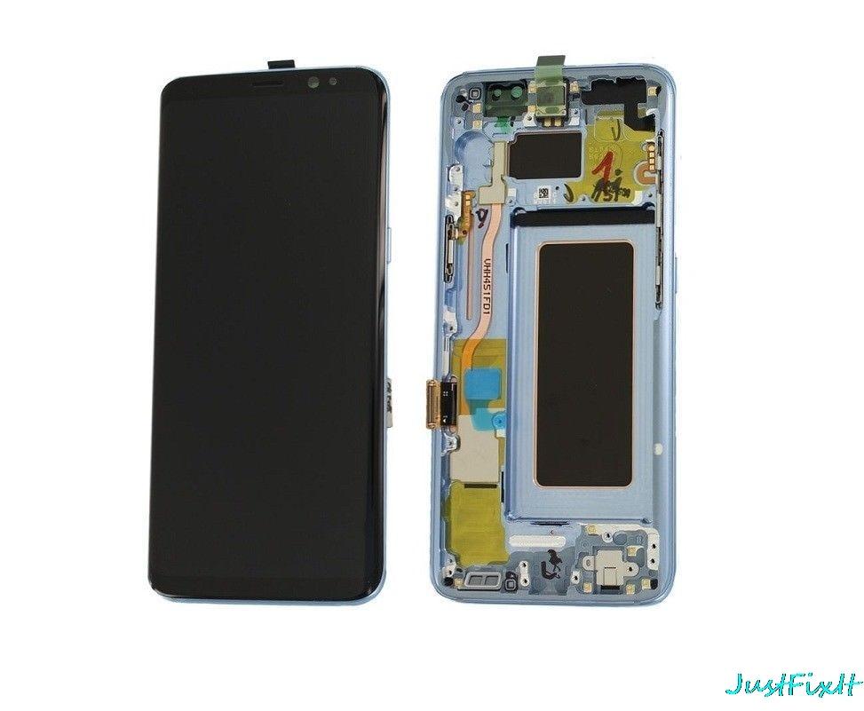 Super AMOLED Originele Voor Samsung Galaxy S8 S8 + S8 Plus G950F G955F Burn in Shadow Lcd Touch screen Digitizer Met Frame-in LCD's voor mobiele telefoons van Mobiele telefoons & telecommunicatie op AliExpress - 11.11_Dubbel 11Vrijgezellendag 1