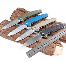 цена на Worth! DA86 folding knife 9CR18 blade pocket knife tactical camping hunting survival knives 4-color G10 handle gift EDC knifes