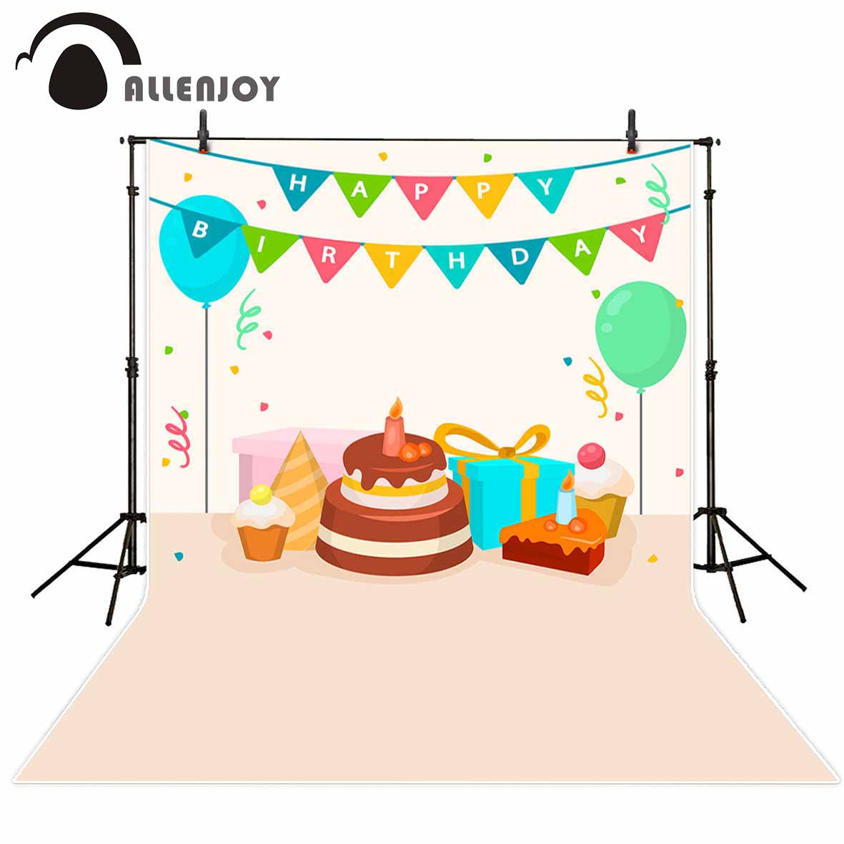 Allenjoy photographic background Cartoon children's flagship salute birthday party backdrop photocall professional customize allenjoy backdrop background wonderland