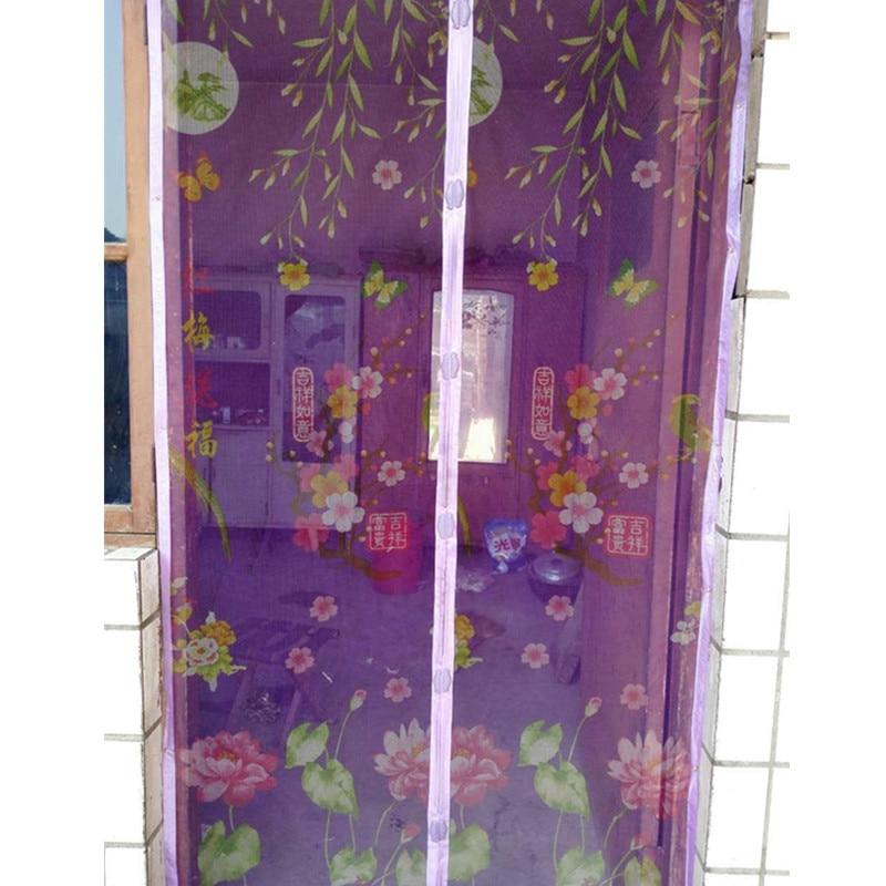 Summer Coffee Bugmesh Screen Door Curtains Magnetic