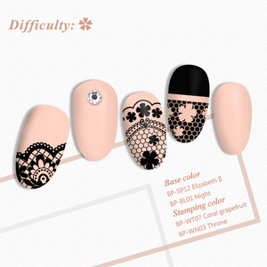 Image 3 - BORN PRETTY Lace Series Nail Stamping Plate Flower Yarn Pattern Rectangle Template Nail Art Stamp Plate