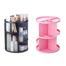 Storage Rack Cosmetics Receiving Box 360 Rotary Acrylic Box Dressing Table Lipstick Skin Care Receiving Frame(China)