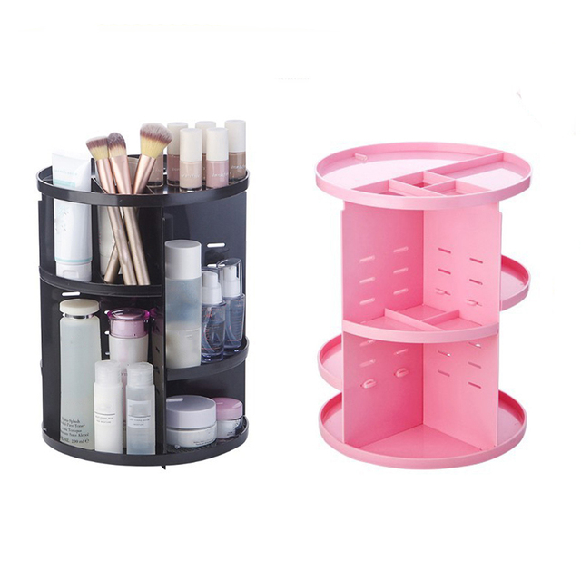 Storage Rack Cosmetics Receiving Box 360 Rotary Acrylic Box Dressing Table Lipstick Skin Care Receiving Frame