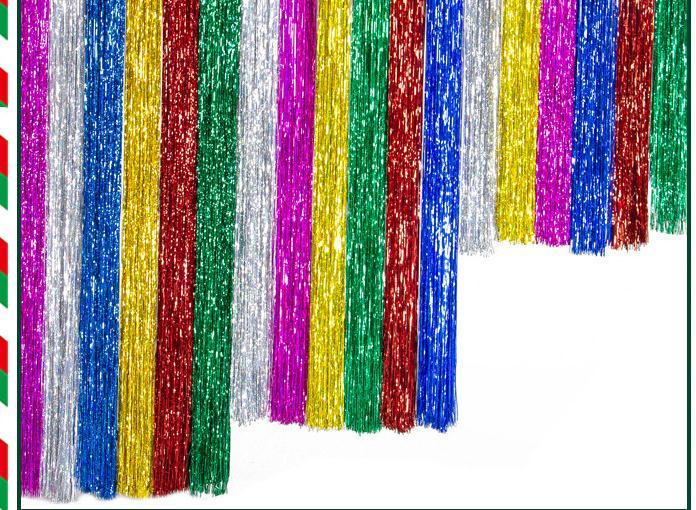 Láser Cascada cortina de fiesta de la boda decoración Telón de fondo de 9.5X100