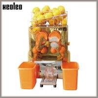 XEOLEO Automática máquina de extracción de Jugo de Naranja Comercial Exprimidor de acero Inoxidable Granada/Jugo de Limón Exactor 20 pcs/min CE 220/110 V