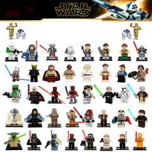 Mailackers Master Yoda LegoED Star Wars Figure Set Luke Skywalker Han Solo Darth Maul Toy For Children Starwars building blocks