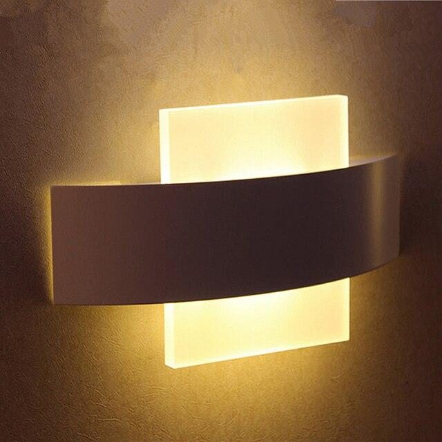 Hochwertige LED Wandleuchte Wohnzimmer Wohnzimmer Foyer Schlafzimmer Bad  Moderne LED Wandleuchte Quadrat FÜHRTE Wandlampe Nacht Licht