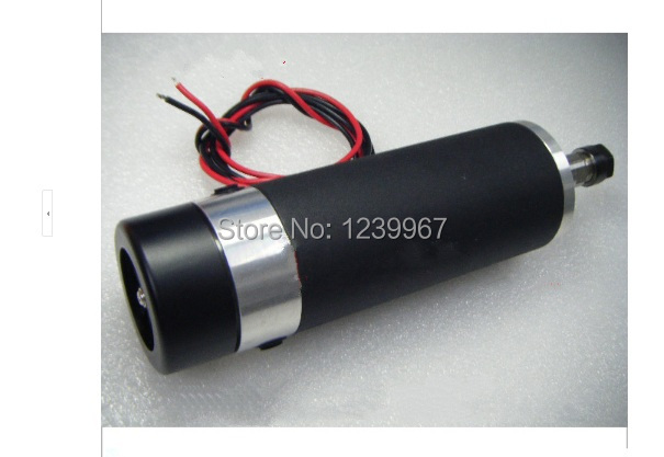 600W DC Brushed Spindle Motor 12000rpm Air-cooled 24-110V 600mN.m ER11 3.175mm CNC Carving Milling free shipping 500w er11 collet 52mm diameter dc motor 0 100v cnc carving milling air cold spindle motor for pcb milling machine