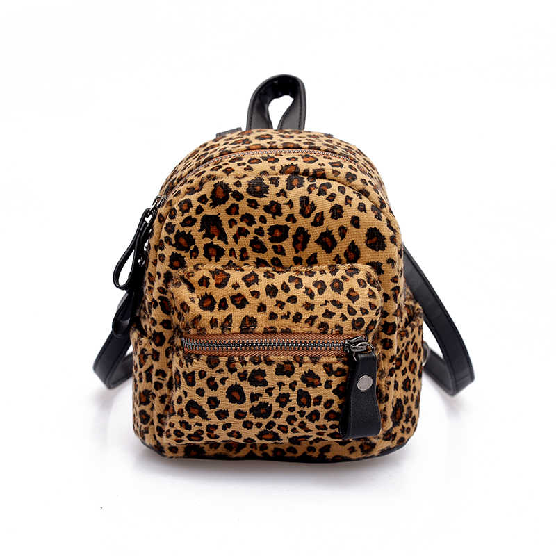 ... Women Mini Leopard Backpack Fashion Plush Zipper Zebra Backpacks  Children Small Backpack Kids Travel Bags Christmas
