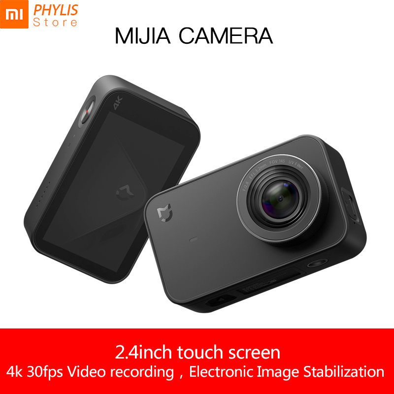Sport & Action-videokameras Xiaomi Mijia 4 K Kamera Action Und Video Kamera Sport Kamera 30fps 145 Winkel 2,4 hd Screen Bluetooth Wifi Camara Deportiva Lassen Sie Unsere Waren In Die Welt Gehen Unterhaltungselektronik