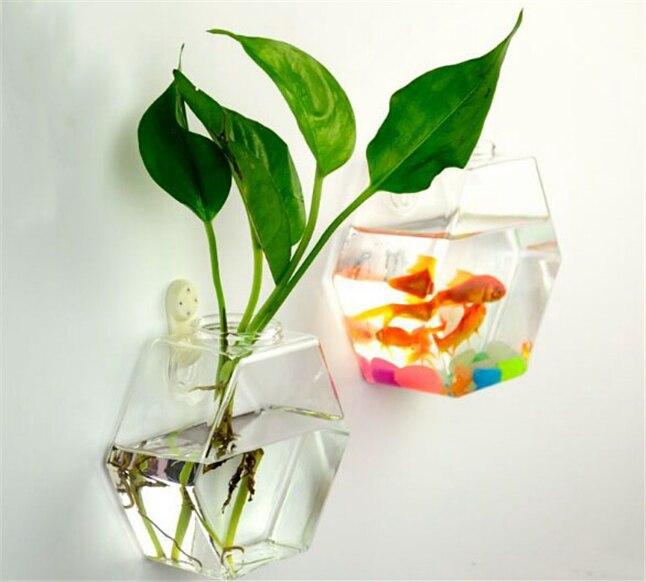 Оригинальный гексагональной DIY настенные Стекло ваза, минималистский Стиль стены Террариум подвесной ваза цветок гидропоника блок домашне...