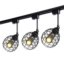 Thrisdar Art Industrial LED Track Light Retro Minimalist LED Rail Track Spotlight for Clothing Store Bar restaurant Coffee Shop track lamp led spotlight clothing store led spotlight bright wall ceiling lamp retro restaurant spotlight industrial guide lamps