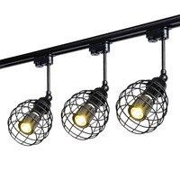 Thrisdar Art Industrial LED Track Light Retro Minimalist LED Rail Track Spotlight for Clothing Store Bar restaurant Coffee Shop