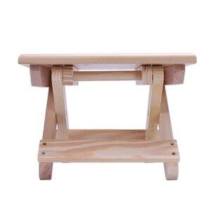 Image 2 - كرسي الشاطئ المحمولة بسيطة خشبية كرسي بلا ظهر قابل للطي أثاث خارجي كراسي الصيد الحديثة كرسي تخييم صغير البراز