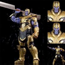 Thanos rysunek SHF Thanos figurka rękawica nieskończoności zabawki lalki na prezent tanie tanio Model Unisex Thanos Figure 7inch Montaż montażu Pierwsze wydanie Dorośli Urządzeń peryferyjnych SHF Thanos Figure Zachodnia animiation