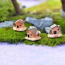 Мини небольшой дом коттеджи «сделай сам» Игрушки, поделки рисунок Террариум с мхом Цветущий сад орнамент пейзаж Декор разные цвета кукольный домик