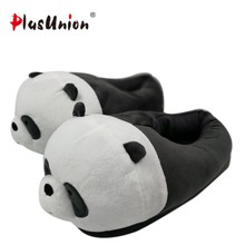 8f8505ab4ff indoor flock plush furry cartoon slippers for adult warm dog shoes women  animal house cosplay costume home winter anime slipper