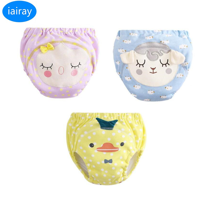 iairay 3pcs baby girl panties baby underwear new born boy cotton panties for girls infant cute training pants toddler underpants ...