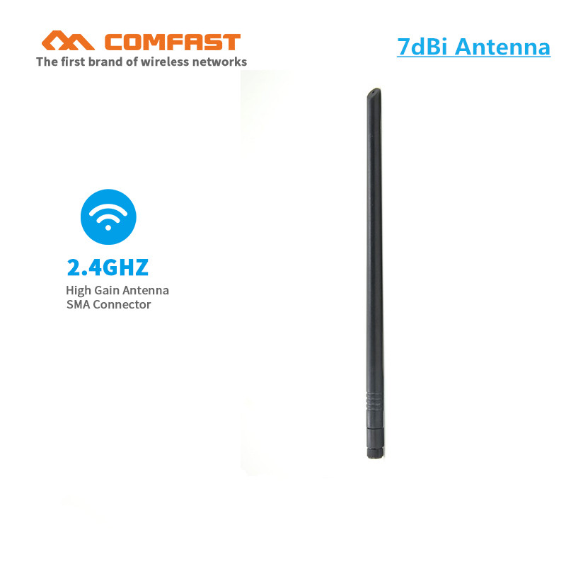 10pcs WiFi Antenna 2.4 GHz 7dBi 802.11b/g Aerial RP-SMA copper omin antenna RP SMA Male Pigtail Cable for wifi router adaptor