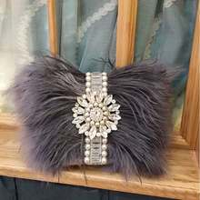 45202d45fa15 2017 Real Fur Handmade Beaded Messenger Bag Fashion Evening Bag Women  Clutch Bag Delicate Banquet Bags Bride Wedding Party Purse