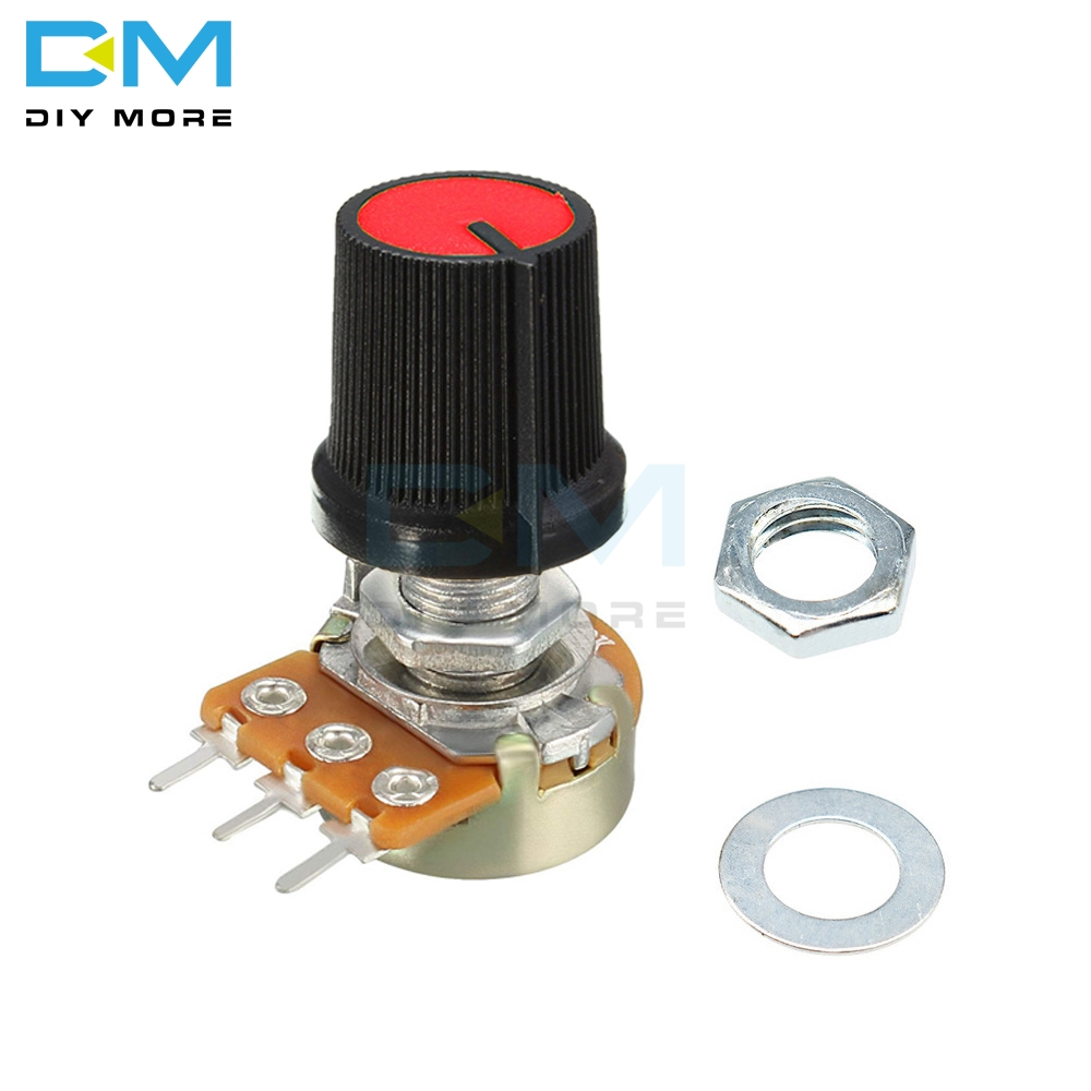 5PCS Red Linear Taper Rotary Potentiometer Resistor Cap Knob For Arduino 1K 2K 5K B10K B20K B50K B100K 250K 500K 1M Ohm Diymore(China)
