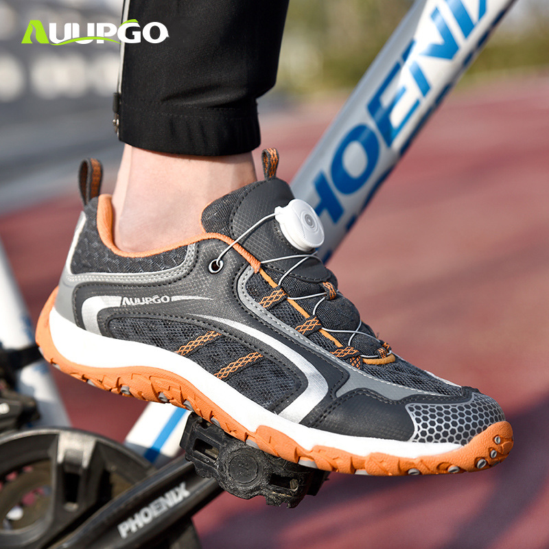 AUUPGO new non locking cycling shoes road bike mtb shoes mountain bike shoe men women leisure
