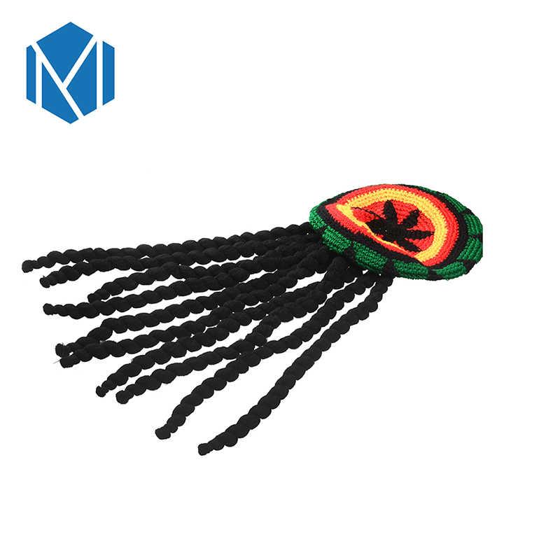 Moda Czapka w stylu hip-hop dzianiny peruka warkocz kapelusz mężczyzna Jamaican Marley Rasta Czapka Zimowa Party Hombre Dreadlocks Reggae Czapka Zimowa